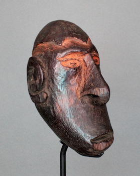 New Guinea, Asmat, wood, headl