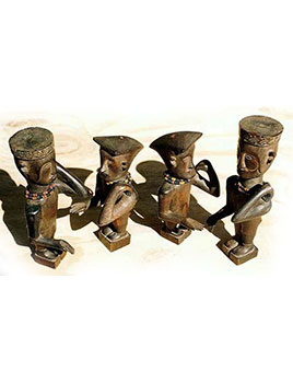 29: Group of Small Wood Dancing Figures