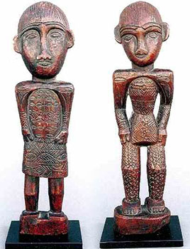 30: Pair of Wood Ancestral Figures